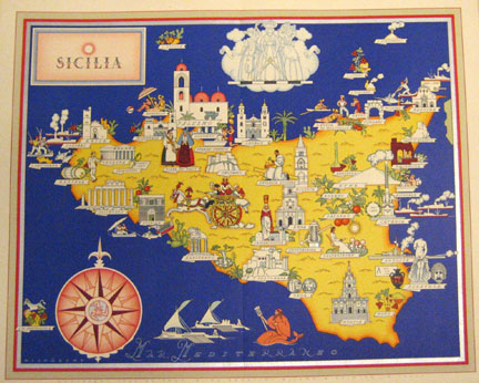 culinary map of Sicily